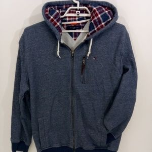 Tommy Hilfiger Blue Hooded Full Zip Jacket Size XL